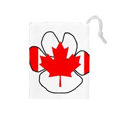 Mega Paw Canadian Flag Drawstring Pouches (Medium)
