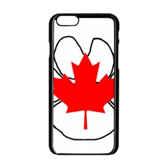 Mega Paw Canadian Flag Apple iPhone 6/6S Black Enamel Case