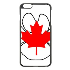 Mega Paw Canadian Flag Apple iPhone 6 Plus/6S Plus Black Enamel Case