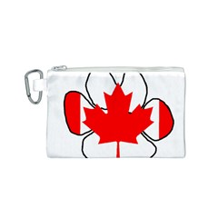 Mega Paw Canadian Flag Canvas Cosmetic Bag (S)