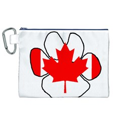 Mega Paw Canadian Flag Canvas Cosmetic Bag (XL)