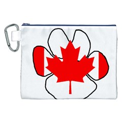 Mega Paw Canadian Flag Canvas Cosmetic Bag (XXL)