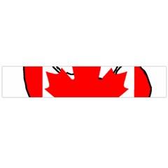 Mega Paw Canadian Flag Flano Scarf (Large)