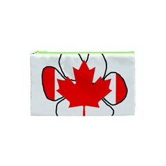 Mega Paw Canadian Flag Cosmetic Bag (XS)