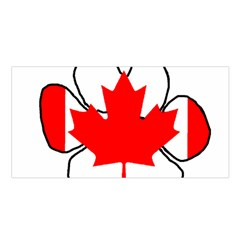 Mega Paw Canadian Flag Satin Shawl