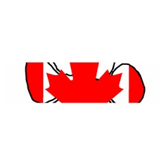 Mega Paw Canadian Flag Satin Scarf (Oblong)
