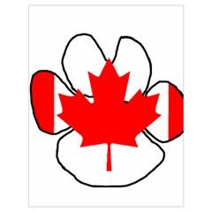 Mega Paw Canadian Flag Drawstring Bag (Large)