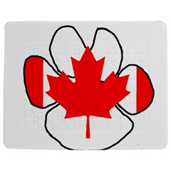 Mega Paw Canadian Flag Jigsaw Puzzle Photo Stand (Rectangular)