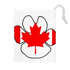 Mega Paw Canadian Flag Drawstring Pouches (Extra Large)