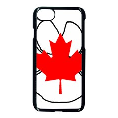Mega Paw Canadian Flag Apple iPhone 7 Seamless Case (Black)
