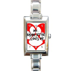 My Lab Loves Me Rectangle Italian Charm Watch