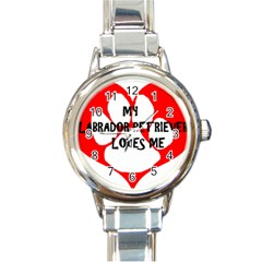 My Lab Loves Me Round Italian Charm Watch