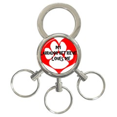 My Lab Loves Me 3-Ring Key Chains