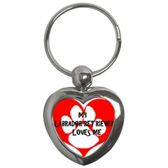 My Lab Loves Me Key Chains (Heart)