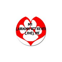 My Lab Loves Me Golf Ball Marker (4 pack)