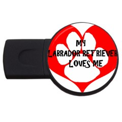My Lab Loves Me USB Flash Drive Round (1 GB)