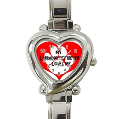 My Lab Loves Me Heart Italian Charm Watch