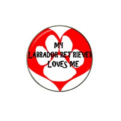 My Lab Loves Me Hat Clip Ball Marker (10 pack)