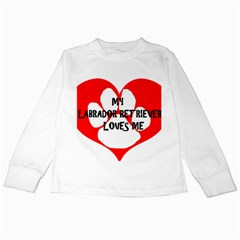 My Lab Loves Me Kids Long Sleeve T-Shirts