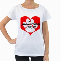 My Lab Loves Me Women s Loose-Fit T-Shirt (White)