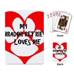 My Lab Loves Me Playing Card