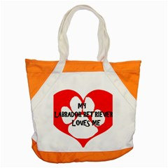 My Lab Loves Me Accent Tote Bag