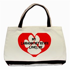 My Lab Loves Me Basic Tote Bag (Two Sides)