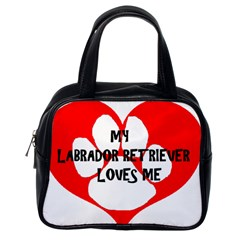 My Lab Loves Me Classic Handbags (One Side)