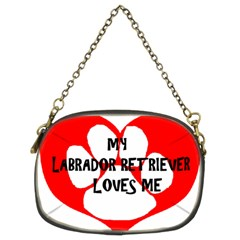 My Lab Loves Me Chain Purses (Two Sides)