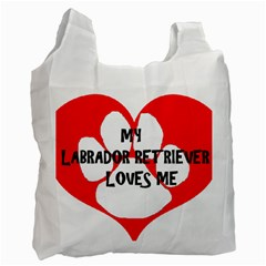 My Lab Loves Me Recycle Bag (One Side)