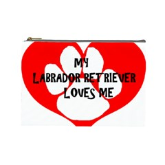 My Lab Loves Me Cosmetic Bag (Large)