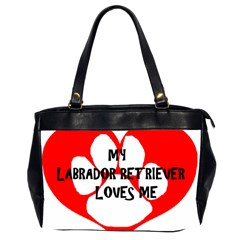 My Lab Loves Me Office Handbags (2 Sides)