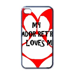 My Lab Loves Me Apple iPhone 4 Case (Black)