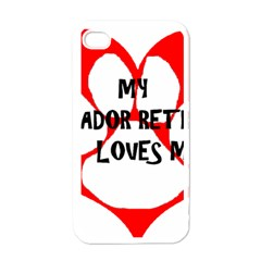 My Lab Loves Me Apple iPhone 4 Case (White)