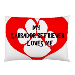 My Lab Loves Me Pillow Case (Two Sides)