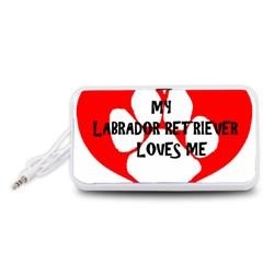 My Lab Loves Me Portable Speaker (White)