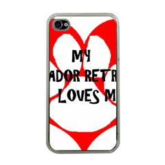 My Lab Loves Me Apple iPhone 4 Case (Clear)