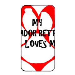 My Lab Loves Me Apple iPhone 4/4s Seamless Case (Black)