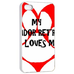 My Lab Loves Me Apple iPhone 4/4s Seamless Case (White)