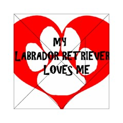 My Lab Loves Me Acrylic Tangram Puzzle (6  x 6 )
