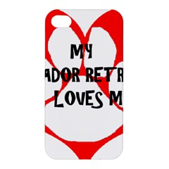 My Lab Loves Me Apple iPhone 4/4S Premium Hardshell Case