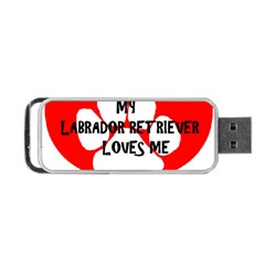 My Lab Loves Me Portable USB Flash (One Side)