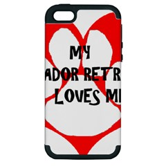 My Lab Loves Me Apple iPhone 5 Hardshell Case (PC+Silicone)