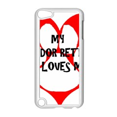 My Lab Loves Me Apple iPod Touch 5 Case (White)