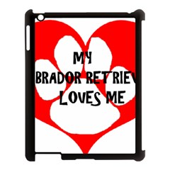 My Lab Loves Me Apple iPad 3/4 Case (Black)