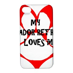 My Lab Loves Me Apple iPhone 4/4S Hardshell Case with Stand