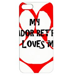 My Lab Loves Me Apple iPhone 5 Hardshell Case with Stand