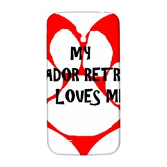 My Lab Loves Me Samsung Galaxy S4 I9500/I9505  Hardshell Back Case