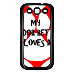 My Lab Loves Me Samsung Galaxy S3 Back Case (Black)