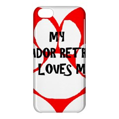 My Lab Loves Me Apple iPhone 5C Hardshell Case